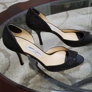 Jimmy Choo size 39(9) black sequined like heels